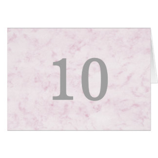 Carte Rougissent le nombre de marbre élégant rose de