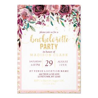 Carte Rougissent l'invitation de partie de Bachelorette