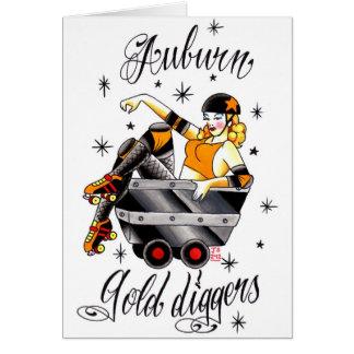 Carte Rouleau Derby - logo auburn de bêcheurs d'or