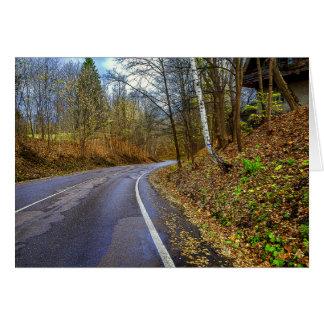 Carte Route à l'automne