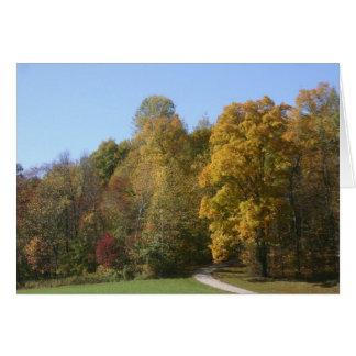 Carte Route d'automne