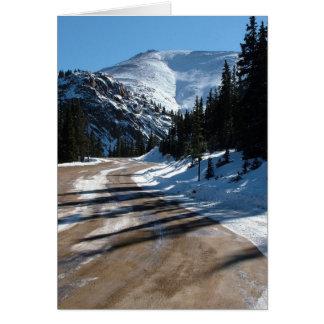 Carte Route de montagne