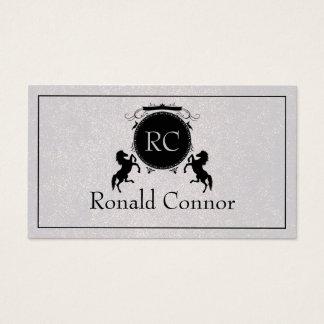 Carte royale noire de cool de gris d'emblème de