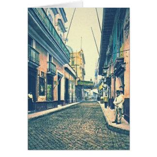 Carte Rue Cuba 1899 de La Havane
