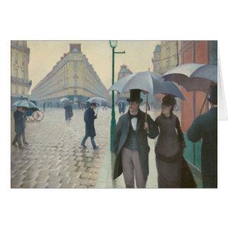 Carte Rue De Paris Temps de Pluie par Gustave