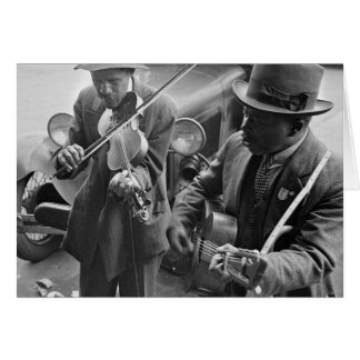 Carte Rue occidentale Musicians, 1935 de Memphis