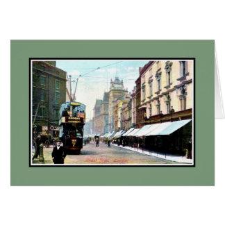 Carte Rue vintage Liverpool d'église