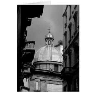 Carte Rues arrières d'image noire et blanche de Milan