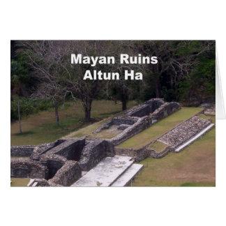 Carte Ruines maya, Altun ha