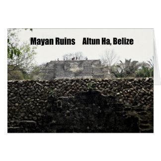 Carte Ruines maya, Altun ha, Belize
