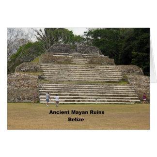 Carte Ruines maya antiques, Belize