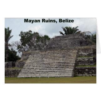 Carte Ruines maya, Belize
