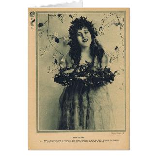 Carte Ruth Roland et fleurs
