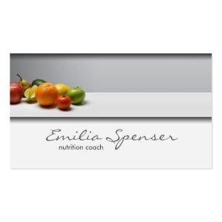 Carte saine grise simple élégante de la vie/nutrit modèle de carte de visite