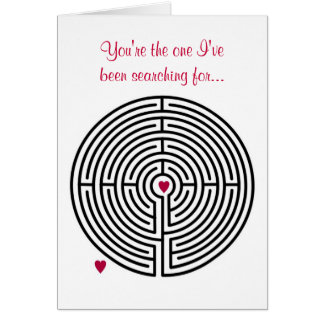 Carte Saint-Valentin d'amour de labyrinthe