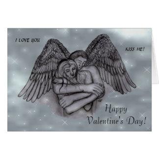 Carte Saint-Valentin - eros d'ange dans l'AMOUR