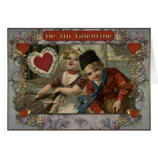Carte Saint-Valentin - fille et garçon de Hollande