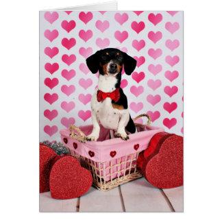 Carte Saint-Valentin - mignonne - teckel