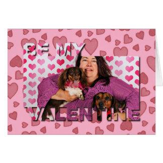 Carte Saint-Valentin - Skippy et Zelda - teckels