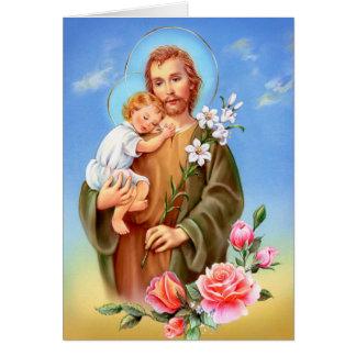 """Carte Saints """"de jour de fête de St Joseph petits"""" """"de"""
