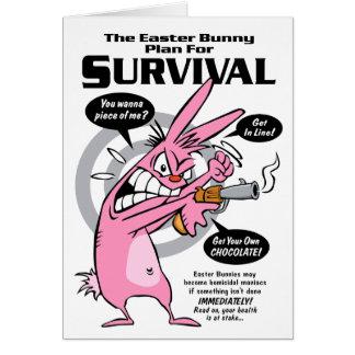 Carte Saison de chasse de lapin Pâques