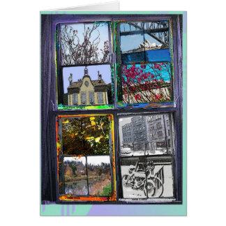 Carte saisons par une fenêtre