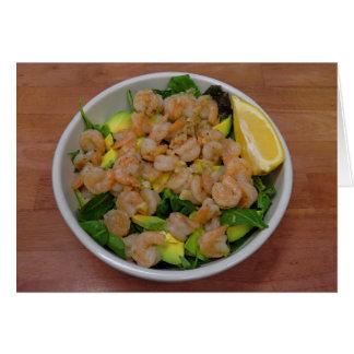 Carte Salade de crevette et d'avocat