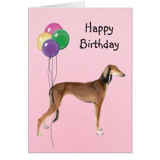 Carte Saluki, ballons d'anniversaire