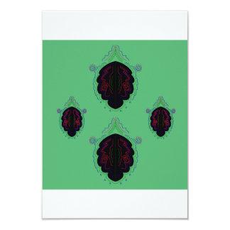 Carte Salutation avec les mandalas noirs merveilleux