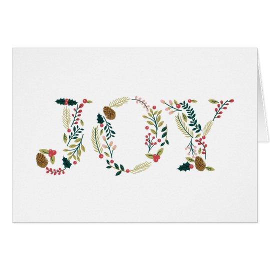Carte Salutation botanique de Noël de joie