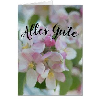 Carte Salutation de floraison joyeuse