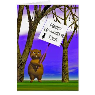 Carte Salutation de Groundhog