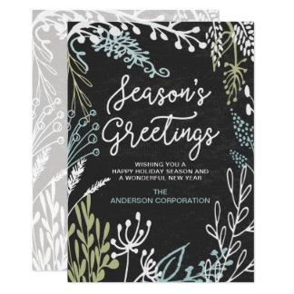 Carte Salutation de vacances d'affaires des Flourishes