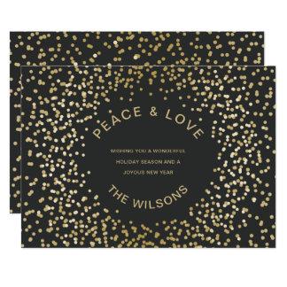 Carte Salutation de vacances de confettis d'or