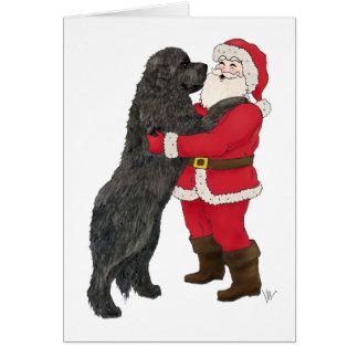 Carte Salutation Jowly de Noël de Terre-Neuve