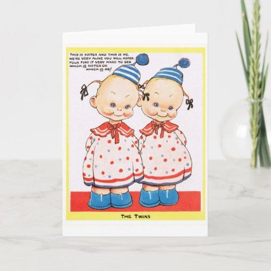 Carte Salutation Jumelle De Joyeux Anniversaire De