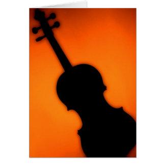 Carte Salutation ou note C d'arrière - plan de violon ou