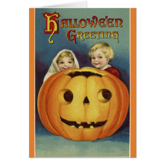 Carte Salutation vintage de Halloween