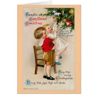 "Carte ""Salutations chaleureuses de Noël """