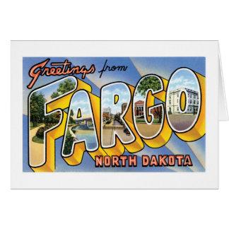 Carte Salutations de Fargo, le Dakota du Nord !