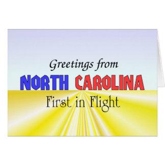 Carte Salutations de la Caroline du Nord