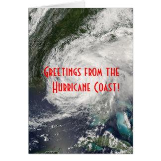 Carte Salutations de la côte d'ouragan !