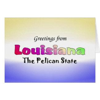 Carte Salutations de Louisiane