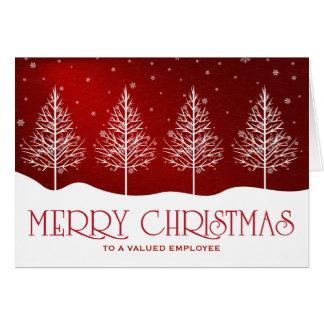 Carte Salutations de Noël d'appréciation des employés