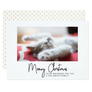 Carte Salutations de Noël de Meowy de votre chat