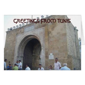 CARTE SALUTATIONS DE TUNIS