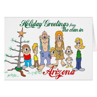 Carte Salutations de vacances d'Arizona