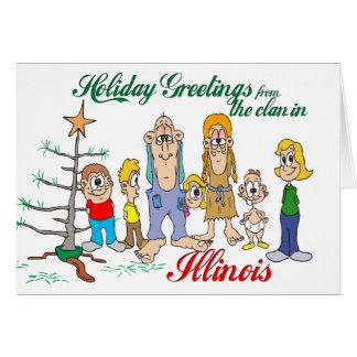 Carte Salutations de vacances de l'Illinois