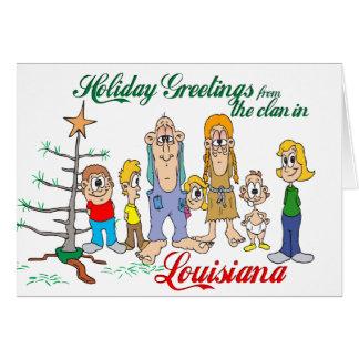 Carte Salutations de vacances de Louisiane