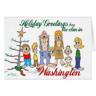 Carte Salutations de vacances de Washington